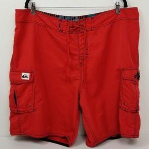 Quiksilver Shorts Nylon Cargo Boardshorts Mens 42